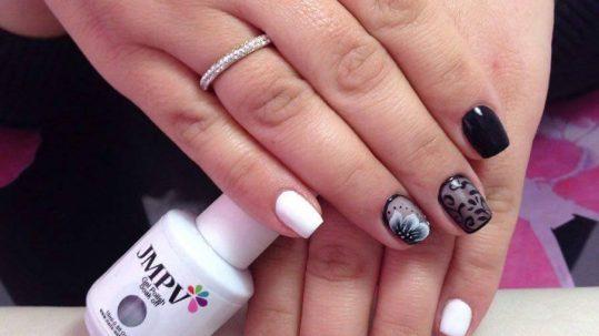 black see throught nails!!!